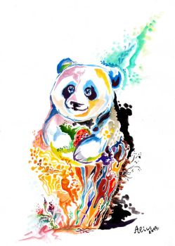 Panda bear by AriceOnly