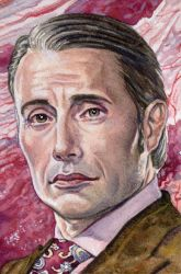 Hannibal Lecter by marksatchwillart