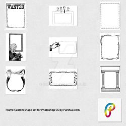 Free Frame Photoshop Custom Shapes Set by Purshue