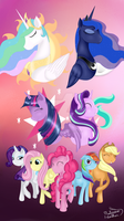 We are FRIENDS!- mlp drawing + speedpaint by PlatinumFeather2002