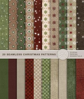 20 seamless christmas patterns by Divenadesign