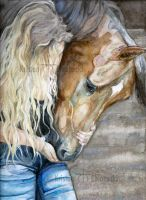 A Girl and Her Horse by kric
