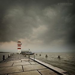 Stormy day by the lake by EdSinger
