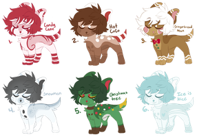 Christmas Doggos (1/6 OPEN) by all-type-adopts
