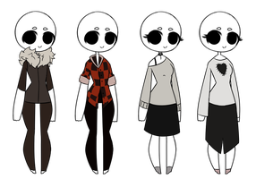 More outfit adopts! Closed by ALaughingFreak