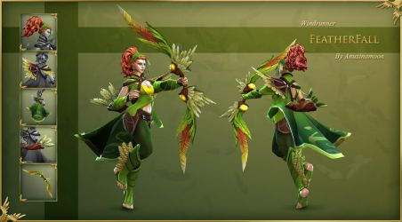 DOTA2 Windrunner Featherfall set by Anuxinamoon