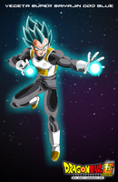 vegeta super saiyajin god BLUE by naironkr