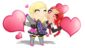Commission - Aikatsu Chibi's by GetSquiddy