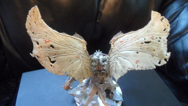Mortarion, Daemon Primarch of Nurgle back of wings by Dible