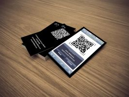 iPhone Business Card QR by CaCaDoo