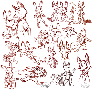 Zootopia Sketches by sharkie19