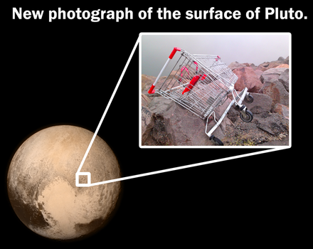 Surface of Pluto Picture by Party9999999