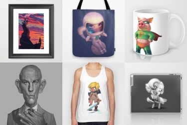 Society 6 stuff by Nico4blood