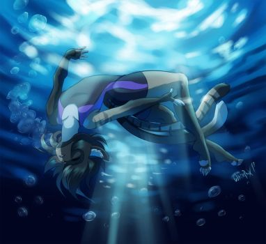 Daydreamer underwater by WhitePhox