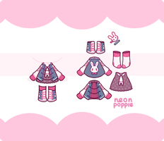 Set Price Outfit 1|Closed by neonpoppie