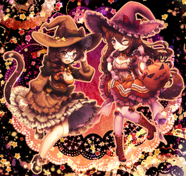 Happy Halloween! [collab] by Oma-Chi