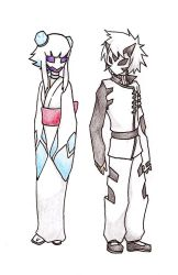 Froslass and Glalie gijinka by mudkipbubble