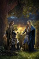 Celeborn and Thranduil by steamey