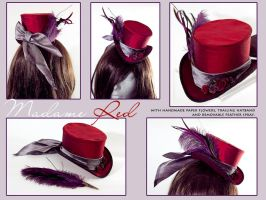 Madame Red - Mini Riding Hat by Elemental-Sight