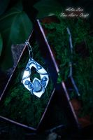 Young Moon silver talisman by Gwillieth