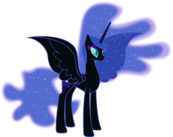 Naked Nightmare Moon by 90Sigma