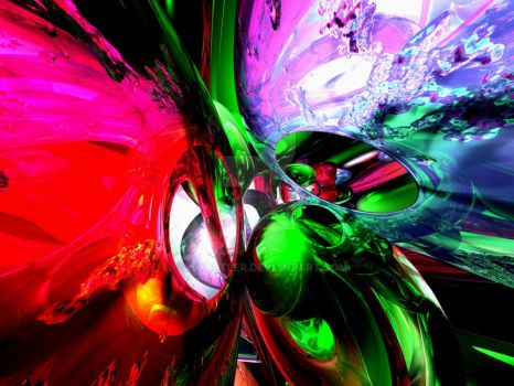 Color Carnival Abstract by AlexButler