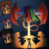 Dungeons and Dragons T-Shirt design voting begins by Benjamin-the-Fox