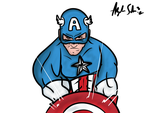 Captain America without Background by alexsalinasiii