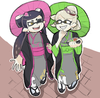 Splatoon2: Callie and Marie by RamyunKing