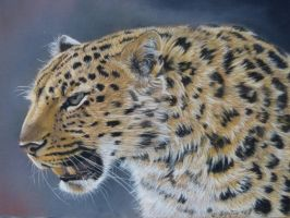 Leopard Pastel Painting by theArtofsilviafrei