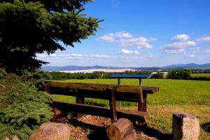 Viewpoint with bench by LoveForDetails