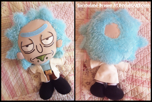 Commission and VIDEO: Small Rick Sanchez Plushie by Sarasaland-Dragon