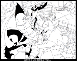 Sonic vs Robotnik by MobianMonster