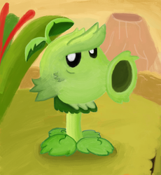 Primal Peashooter from Plants vs Zombies 2 by WindyThePlaneh