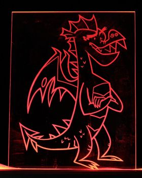 My Little Pony Garble LED Picture by steeph-k