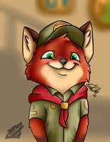 Young Nick Wilde by FlamingRage21