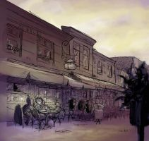 Cafe- coloured by DianeAarts