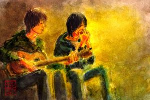 Harmonica and acoustic guitar. by koony