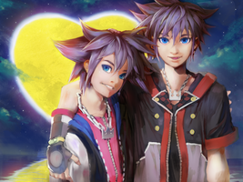 Sora And Sora Kingdom hearts by afroad