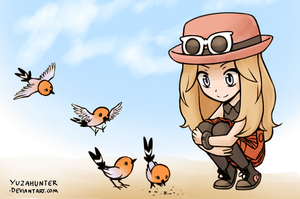 Pokemon XY - Y-chan and her birds