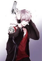 MysticMessenger - Unknown/Saeran by RakiBlueguy