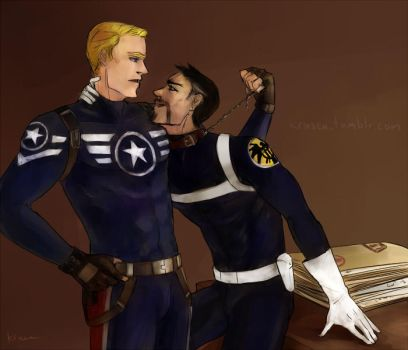 Stony_Kinky Bosses on the Helicarrier by krusca