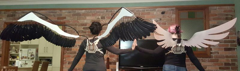[PMMM] Madokami and Homucifer Cosplay Wings by OneMinuteCosplay