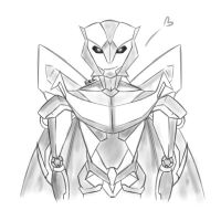 Sketch of Decepticon OC for RP xD by Pixie-Edelweiss