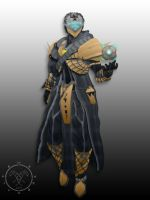 Fate Overwatch knight armor Warlock by Hellmaster6492