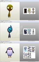 Bard: Followers Meeps - Papercraft model template by alicestuff
