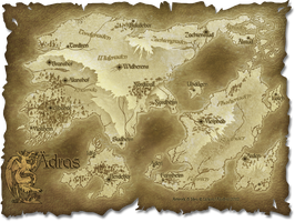 Map of Aedras by Lizkay