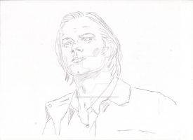 Supernatural: Sam Winchester sketch by StevenWilcox