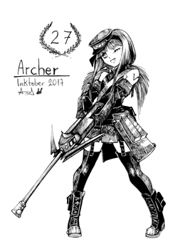 Inktober 27 - Archer by YunaXD