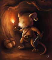 Cave explorer mouse by RUGIDOart